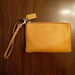 Orange Coach Wristlet/Wallet